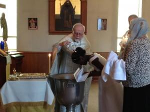 Baptism of Mavis Sugden