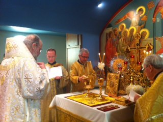 Bishop Alexander celebrating Divine Liturgy