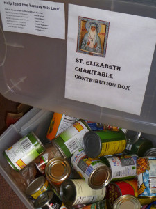 Food donations received at St. Elia