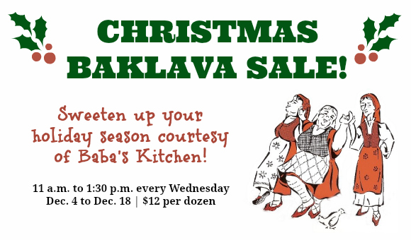 Christmas Baklava Sale