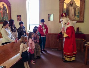 St. Nicholas visits St. Elia