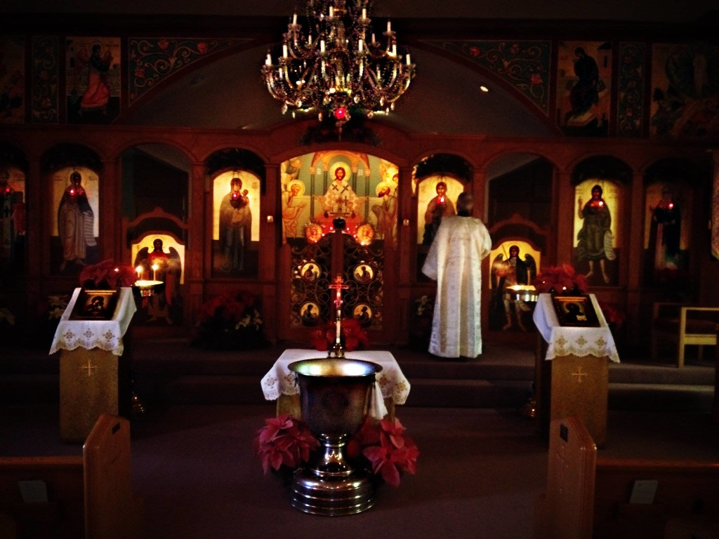 Interior of St. Elia during Great Vespers 1/18/14