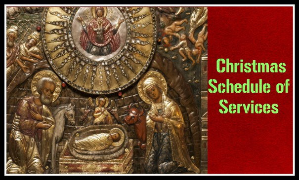 Schedule of Christmas Services