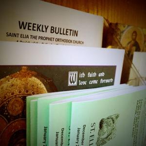 Saint Elia Weekly Bulletin