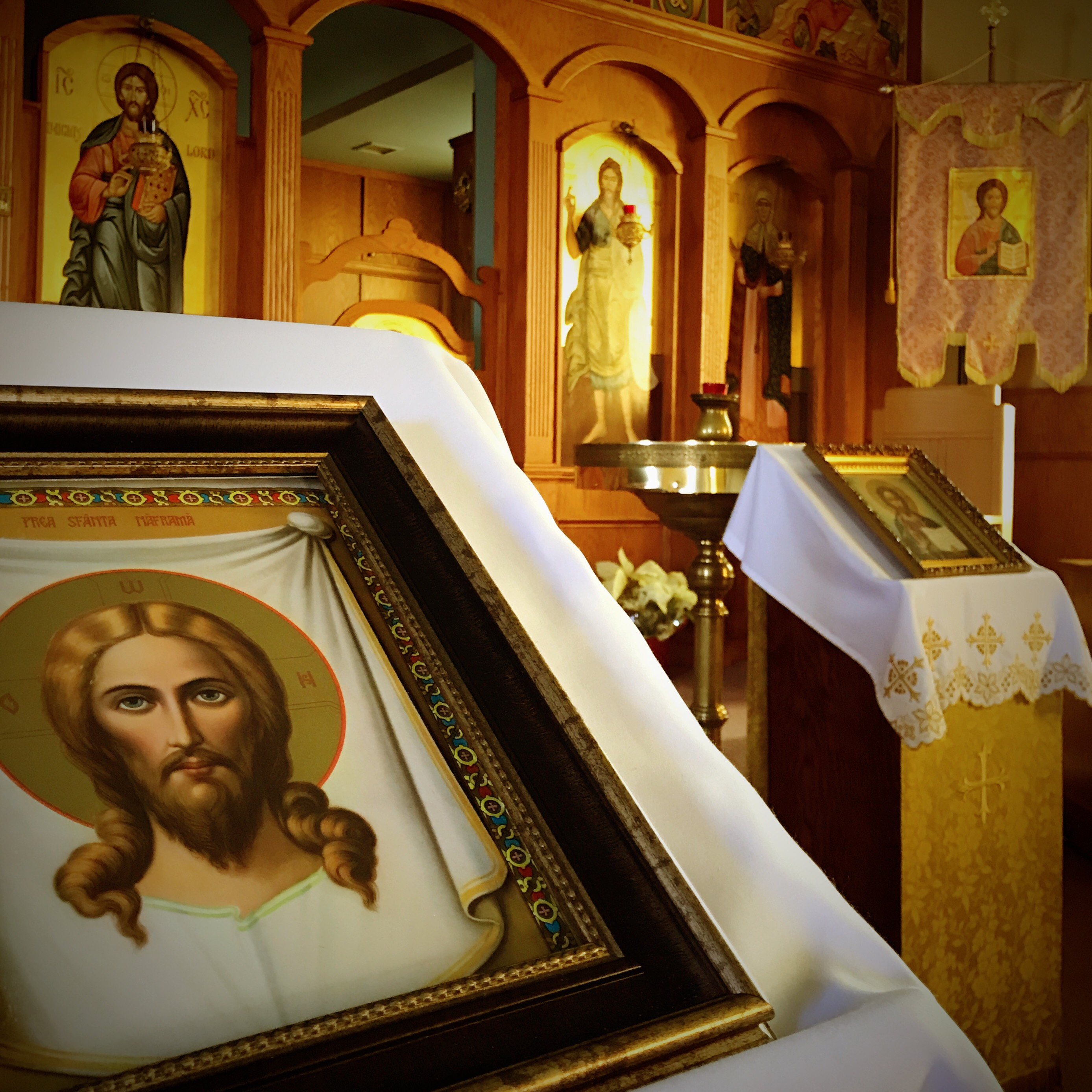 Christ Icon at Saint Elia Orthodox Church Akron